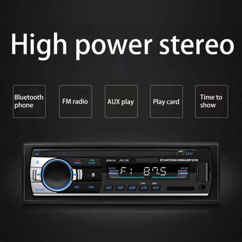 車ラジオ 1 Din 12 12v 車ステレオ Bluetooth MP3 音楽プレーヤー USB Aux 入力 TF カードで Autoradio リモート制御