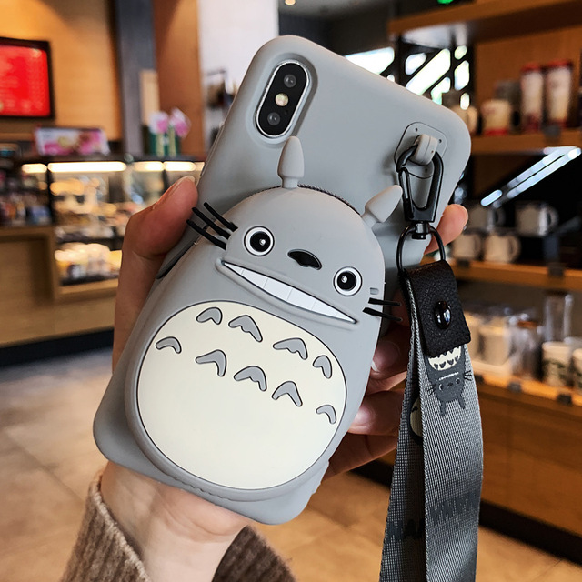 <font><b>3D</b></font> Cartoon Totoro Hand with Phone <font><b>Case</b></font> For <font><b>VIVO</b></font> <font><b>Y69</b></font> Y67 Y66 Y55 Y53 2017 Y51 <font><b>Cases</b></font> Silicone Back Cover <font><b>Case</b></font> Fundas image