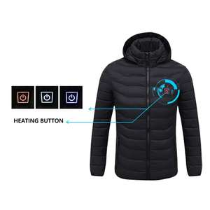 Heating-Jackets Heated-Clothing Hooded Smart-Thermostat Warm Waterproof Men Winter USB