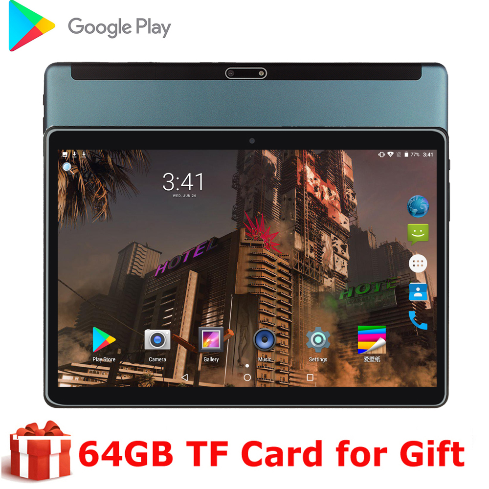 New System 10 Inch Tablet PC 3G Phone Call Android 9.0 OS Tablet WiFi Bluetooth 2GB 32GB Dual SIM Support Phablet 10.1 Keyboard