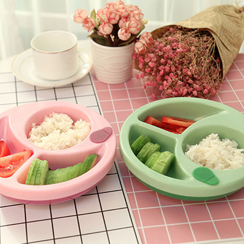 Children's Tableware Baby Learning Dishes Non-slip Food Feeding Bowl PP Kids Assist Food Bowl With Suction Cup Baby Feeding Dish