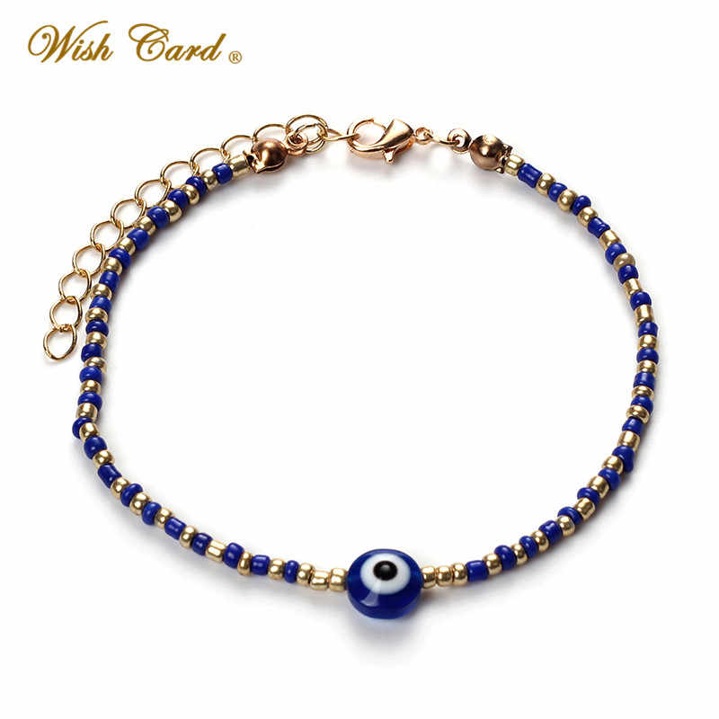 Lucky Evil Eye Bracelets For Women Men 8 Colors Alloy Beads Lobster Clasp Turkish Eye Bracelets Fashion Jewelry Birthday Gift