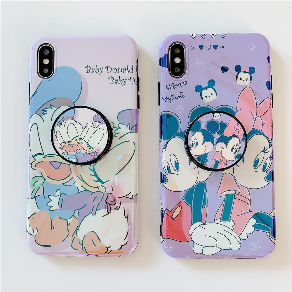 Image 3 - Funny Cute Lovely Girly Cartoon Mouse Phone Case For iPhone X 8 7 6 6s Plus XS 11 Pro Max XR i7P i8P Holder Stand Cover Fundas-in Fitted Cases from Cellphones & Telecommunications