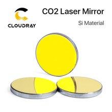 Cloudray-Espejos reflectantes láser Co2, Si, para grabador láser, Reflector de silicona chapado en oro, diámetro de las lentes 19 20 25 30 38,1mm