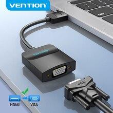 Bộ Chia Vention HDMI To VGA Adapter HDMI Đực Sang VGA Cho 1080P Kỹ Thuật Số Sang Analog Video Âm Thanh Cho Laptop Máy Tính Bảng chuyển Đổi Tín Hiệu Từ HDMI Sang VGA