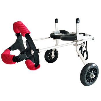 Dog wheelchair hind limb paralysis pet scooter disabled dog  leg support cat Teddy large  scaffold
