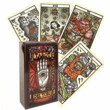 Del Toro Tarot Deck gioco da tavolo intrattenimento carta da gioco di dio creativa con guida PDF inglese completa per bambino adulto