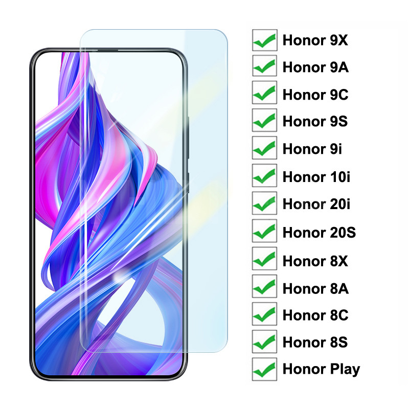 9H Protective Glass On The For Honor 9X 9A 9C 9S 9i 10i 20i 20S Play Tempered Screen Protector Honor 8X 8A 8C 8S Glass Film