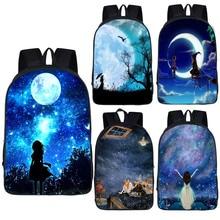 Galaxy/Universum/Einhorn Schule Rucksack für Teeange Mädchen Kinder Schule Taschen Starry Night Raum Stern Schul Kinder Bookbag