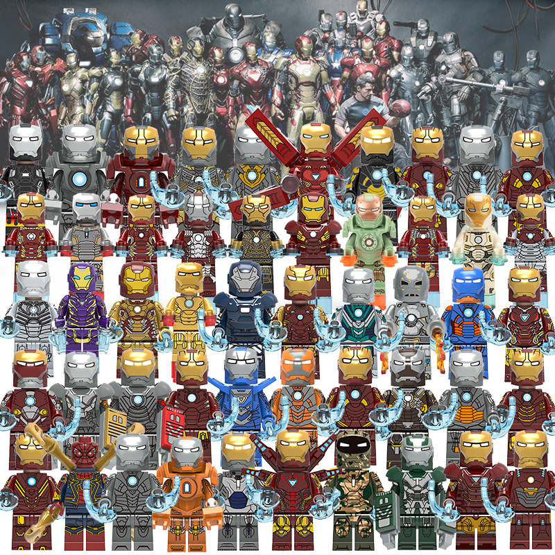 Iron Man Models Single Sale Avengers Super Hero Compatible Legoingly Figures Building Blocks Bricks Set Model Toys For Children