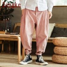 Zongke толстые вельветовые брюки мужские Японская уличная одежда Спортивные штаны мужские модные бегуны брюки мужские тренировочные хип-хоп 5XL осень
