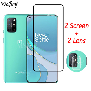 Full Cover Tempered Glass For OnePlus 8T Screen Protector For OnePlus 8T Camera Glass For OnePlus 8T One Plus 8T Glass 6.55 inch oneplus x premium tempered glass screen protector