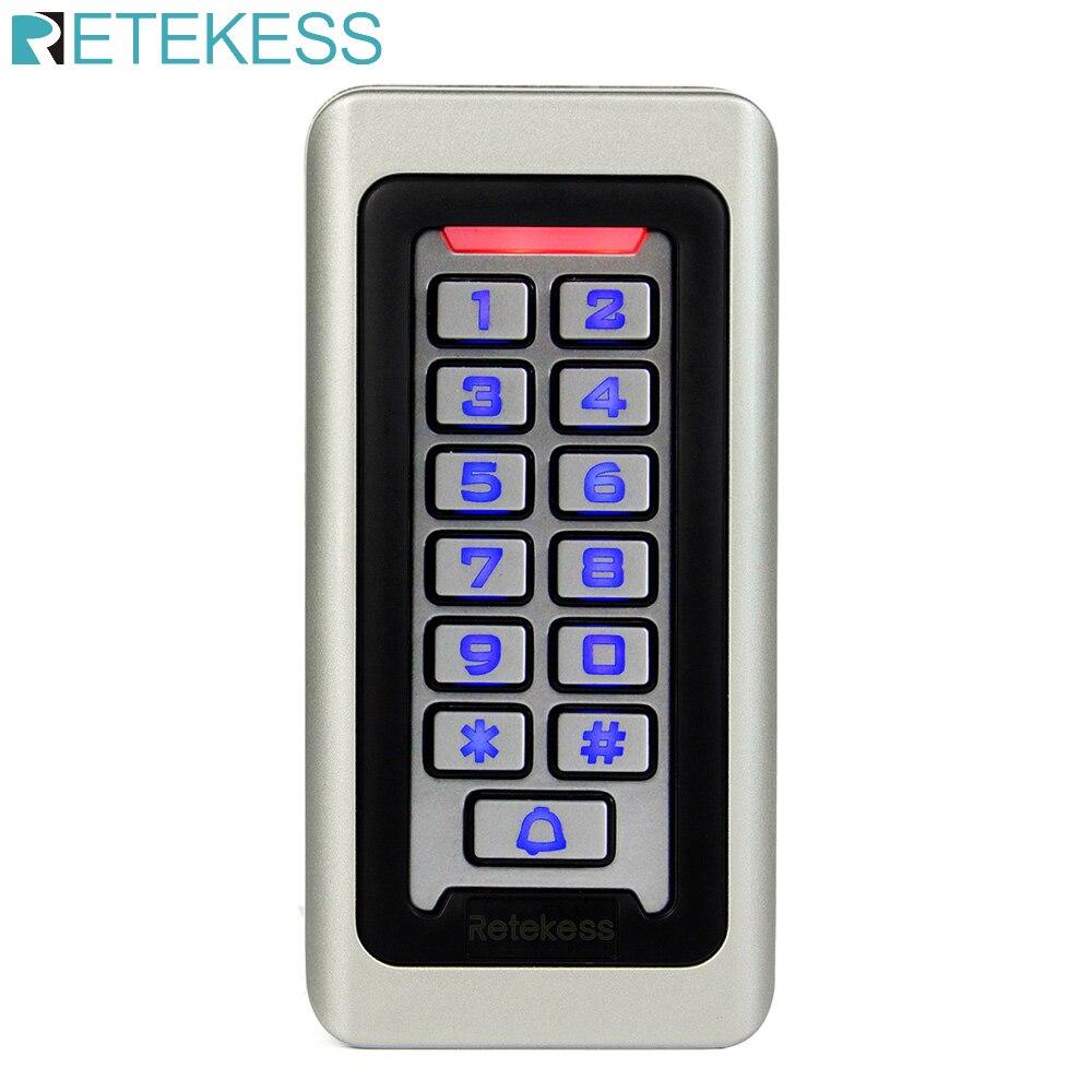 T-AC03 sistema de controle acesso do teclado rfid cartão proximidade standalone 2000 usuários porta controle acesso à prova dwaterproof água caixa metal f9501d