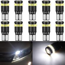 10x W5W LED T10 LED wewnętrzne światła samochodowe dla Mitsubishi Outlander Lancer 10 9 Galant ASX Pajero Sport L200 Colt leds dla auto 12V
