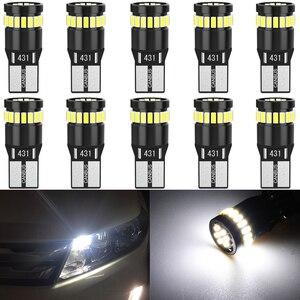 10x w5w t10 led interior luzes do carro para mitsubishi outlander lancer 10 9 galant asx pajero esporte l200 colt leds para automóvel 12v