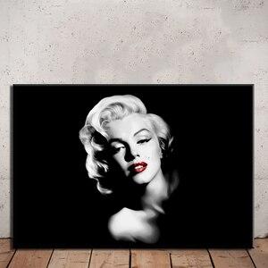 Lona sexy ator marilyn monroe pintura impressão modular poster arte da parede hd fotos decoração para casa arte do quarto quadro