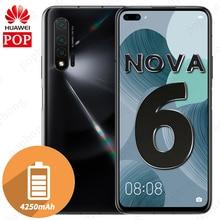 Мобильный телефон HUAWEI Nova 6, экран 6,57 дюйма, восьмиядерный процессор Kirin 990, на базе Android 10,0, разблокировка по отпечатку пальца