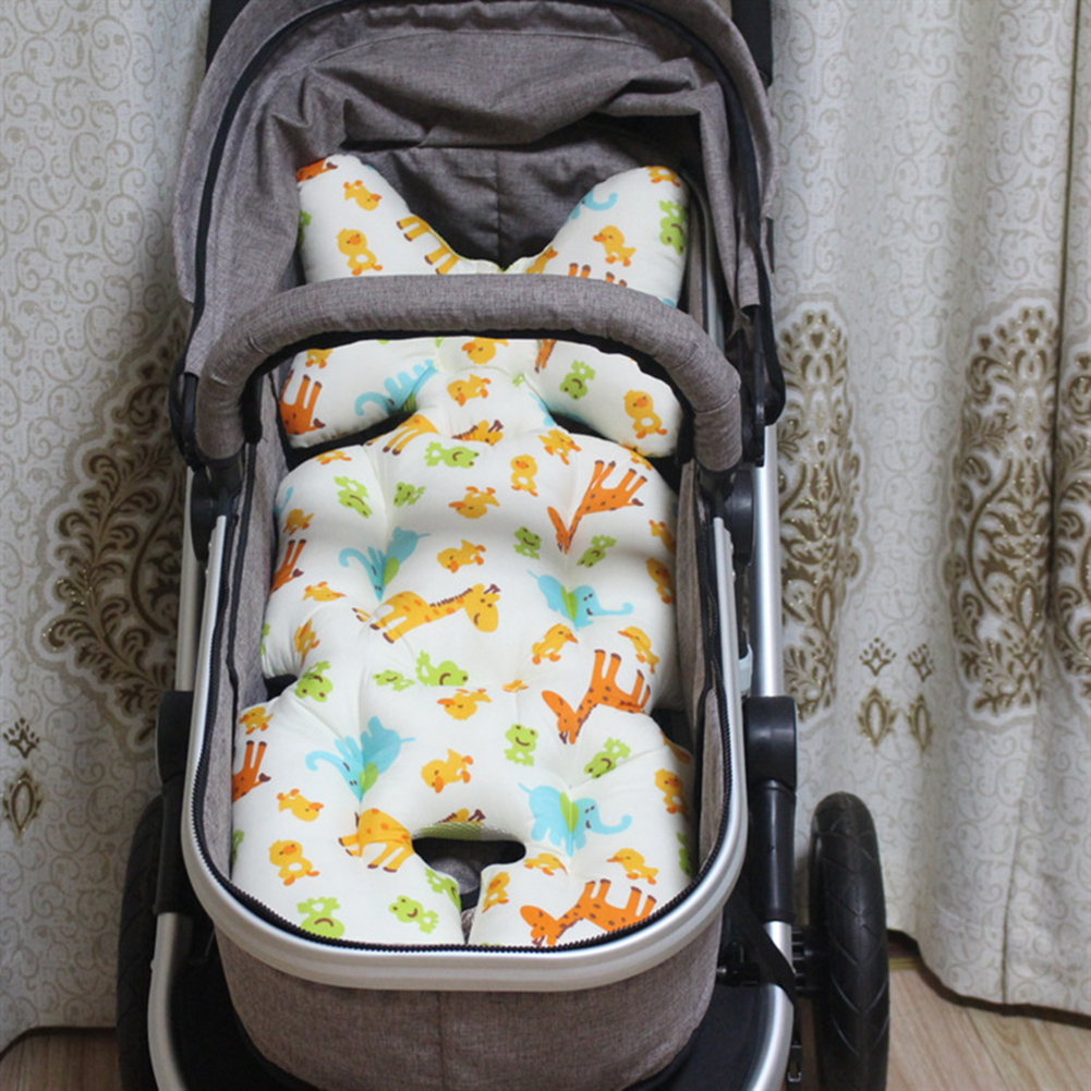 Double-sided Baby Stroller Cotton Cushion Seat Cover Mat Breathable Soft Car Pad Pushchair Urine Pad For Baby Stroller Car Seats