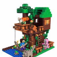 Baum Haus Compatibie Legoings Bausteine Spielzeug Kit DIY Pädagogisches Kinder Weihnachten Geburtstag Geschenke