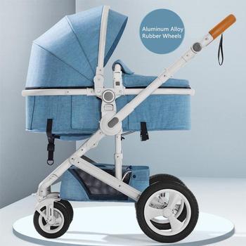 Newborn Baby Stroller 3 in 1 High Landscape Carriage Luxury Travel Pram Basket quality Stroller Baby Car seat Hot Sale Upgrade! 10