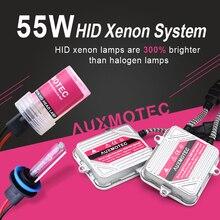 55W HID קסנון H7 H1 H3 H11 ערכת 4300K 6000K 8000K 10000K רכב קסנון פנס 9005 HB3 9006 HB4 שגיאת משלוח Slim HID ערכת קסנון