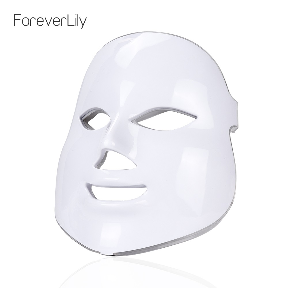 NOBOX-Foreverlily 7 Colors LED Facial Mask Face Mask Skin Care Beauty Mask Photon Therapy Light Skin Rejuvenation Facial PDT