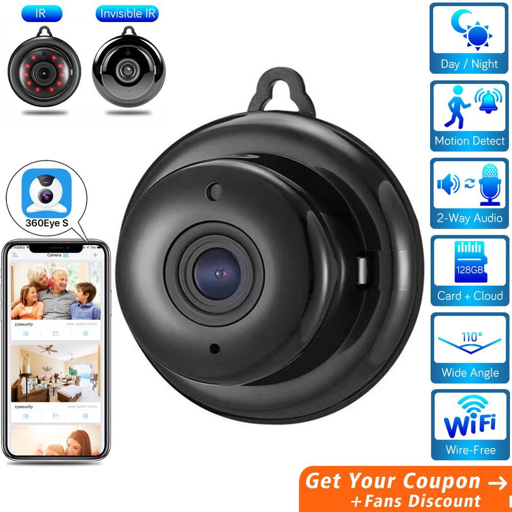 HD Mini Hidden Wifi Camera Cloud Audio Wireless Home Security Camera CCTV Video Surveillance Invisible Night Vision IP Camera