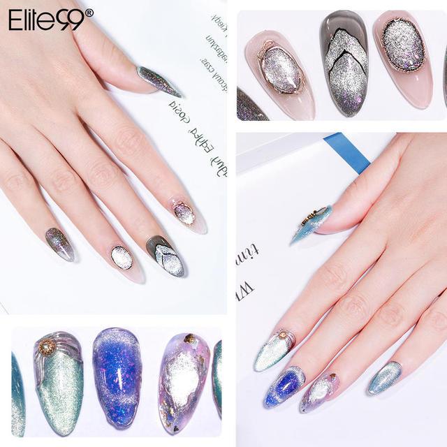 Elite99 10ml Galaxy Platin Magnetische Nail art Gel Polnischen Katze Auge Nägel Gel Lack Holographics Glitter LED UV Gel nagellack