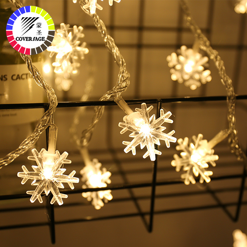Coversage 3M 20 Leds Fairy String Garland Christmas Tree Curtain Snow Outdoor Home Decorative Curtain Lights Luces Led Navidad