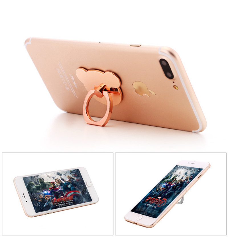 Titular Anel de Dedo mesa de Telefone geral 360 Graus Suporte bonito para Samsung iPhone Xiaomi X 7 6 55 5S Plus smartphones Tablet Simples