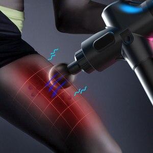 Image 4 - 1200 3300r/min elektryczny masażer mięśni terapia masaż powięzi pistolet głębokie Vibraion rozluźnienie mięśni kształtowanie sylwetki Fitness z torbą