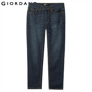 Image 2 - Giordano Men Jeans Denim Jeans Elastic Mid Rise Narrow Feet Quality Cotton Denim Jeans Pantalones Whiskering Denim Clothing