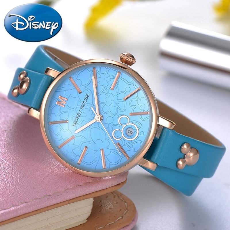 Womens Leather Strap Long Band Bracelet Fashion Casual Watches Ladies Trendy Calendar Yong Girls Watch Female Clocks Reloj Mujer