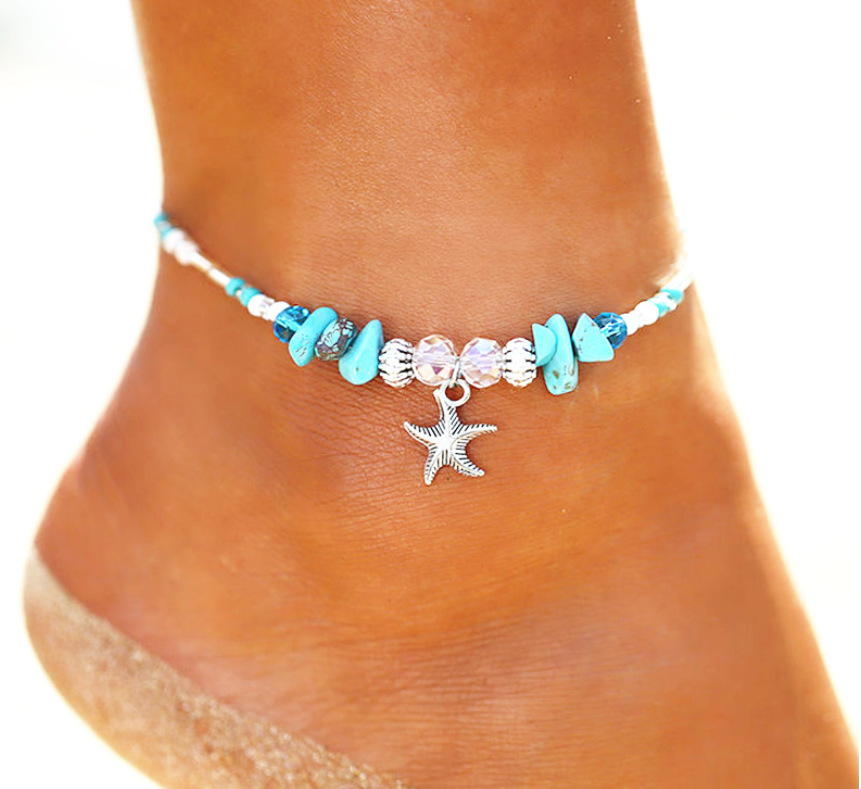 Bohemian style charm beach anklet ladies handmade leg bracelet jewelry