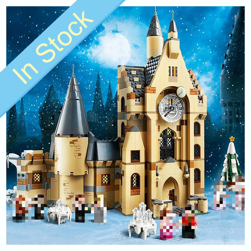 In Stock 75948 900pcs Potter Movie Serices Clock Tower Set Model Building Blocks Bricks Kids Toys For Gift 11344 J10001