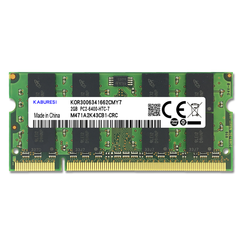 KABURESI DDR2 Laptop Memory With 2x Dual-channel PC2-6400 PC2-5300 Notebook 8