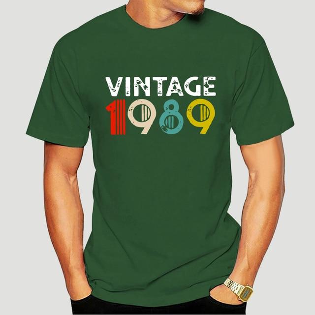 Vintage 1989 29th anniversaire T-Shirts Vintage anniversaire T-Shirts pour hommes manches courtes Original t-shirt 100% coton 1142J