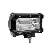 2 шт. светодиодный фонарь для рабочего света, светодиодный фонарь для автомобиля, 5 дюймов, 72 Вт, два ряда