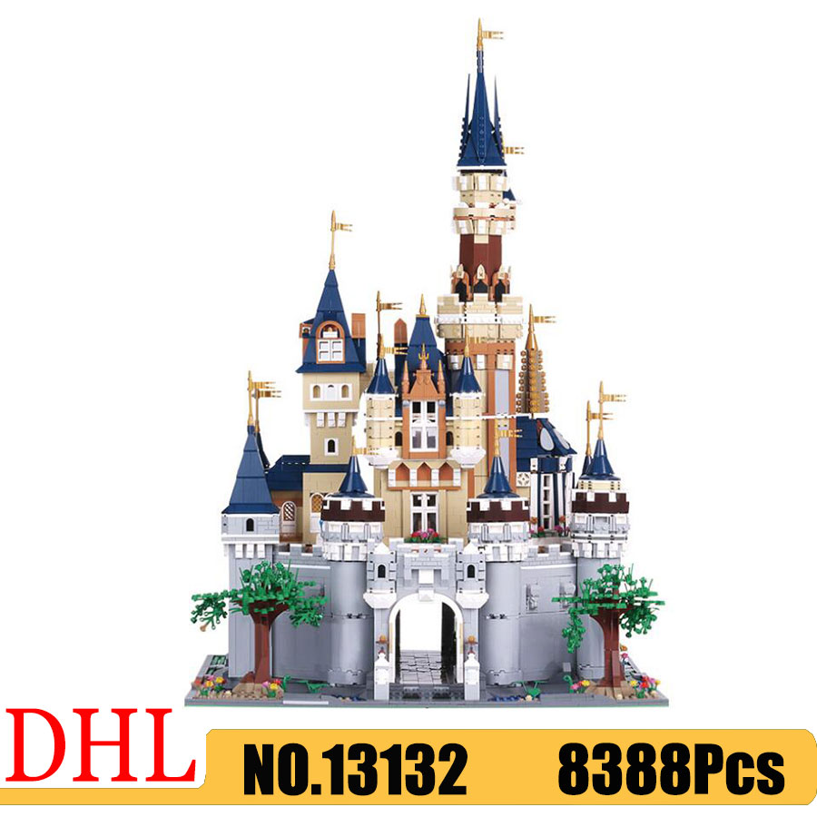 <font><b>13132</b></font> Creators series Princess Cinderella Dream Castle Building Blocks Bricks Compatible 71040 16008 Children Architecture Toys image