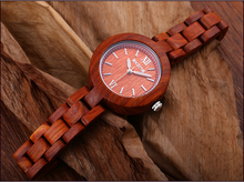 New Hand-made Sandalwood Watches forFemale Leisure Fashion Waterproof Multifunctional Quartz Watches Gift for Womenwomen watches 55 watches fashion watches