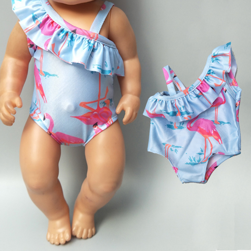 Baby Doll Clothes For 43cm New Born Doll Swim Clothes 18 Inch Doll Summer Bikini