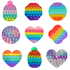 Pop Fidget Reliver Stress Toy Rainbow Push Bubble Antistress Toys Adults & Children Sensory Toys to Relieve Autism Free Shipping
