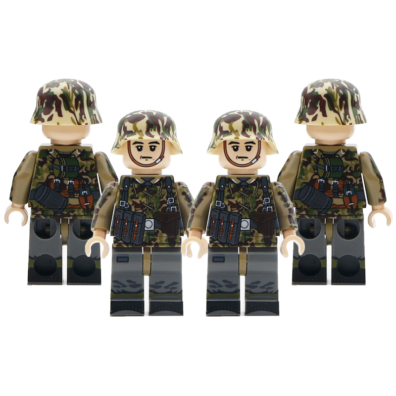 WW2 Military Soldier Figure Bricks Camouflage German Field Army Special Force Soldiers Building Blocks Toys For Children