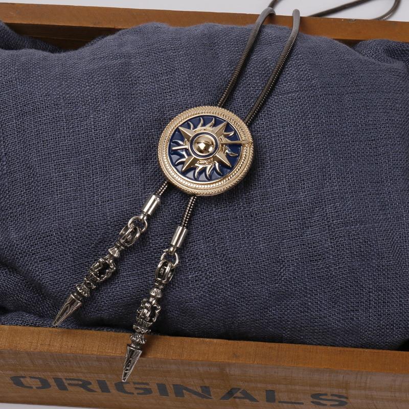 Original Men's Bolo Tie Gun Color Copper Chain Shirt T-shirt Accessories Fashion Trend