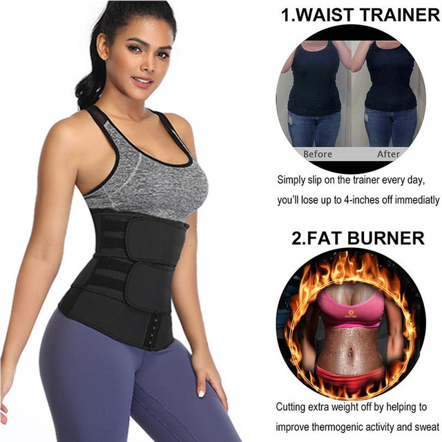 Shapewear Body Shaper Bandage Sweat More Waist Trainer for Women Men Weight Loss Corset Belly Band Belt Control Slimming 4