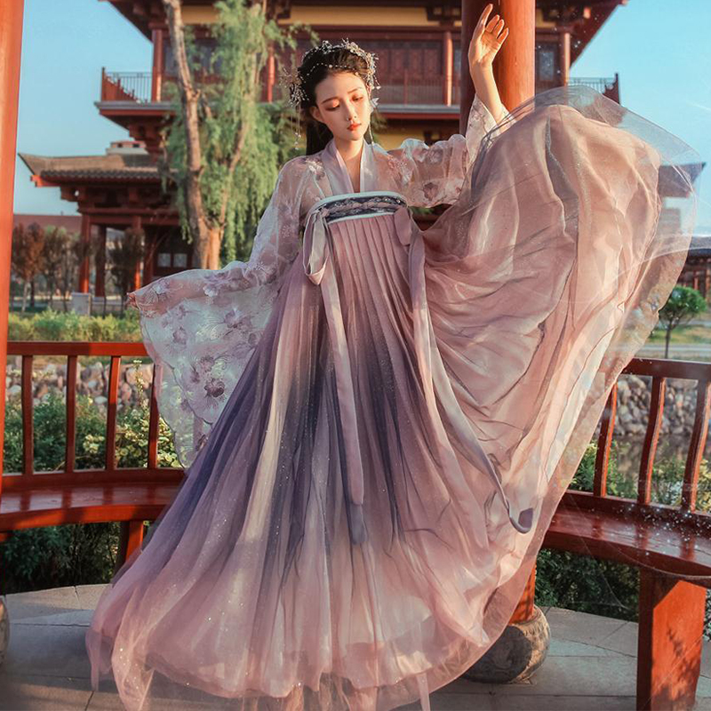 2020 Lady Womens Hanfu Costume Ancient Chinese Fairy Costumes Quality Chiffon Clothing China National Folk Dance Costume