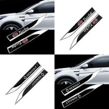 Emblema do carro decalque metal fender etiqueta lateral do logotipo do carro etiqueta para audi sline tt tts a4 b8 a3 8p b6 a6 b7 8v q5 q7 c5 a5 b5 a7 a1 b9