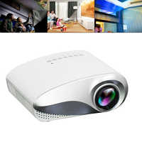 RD802 Portable LED LCD Projector 200 Lumens 400*320P HD Mini Projector Home Theater Media Player for 100 Inch Screen Projection