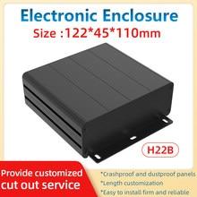 Electronic Bending Housing Faceplate Cutout Customized Electronic Box 6063 CNC Machinery Equipment Housing H22B 122*45mm