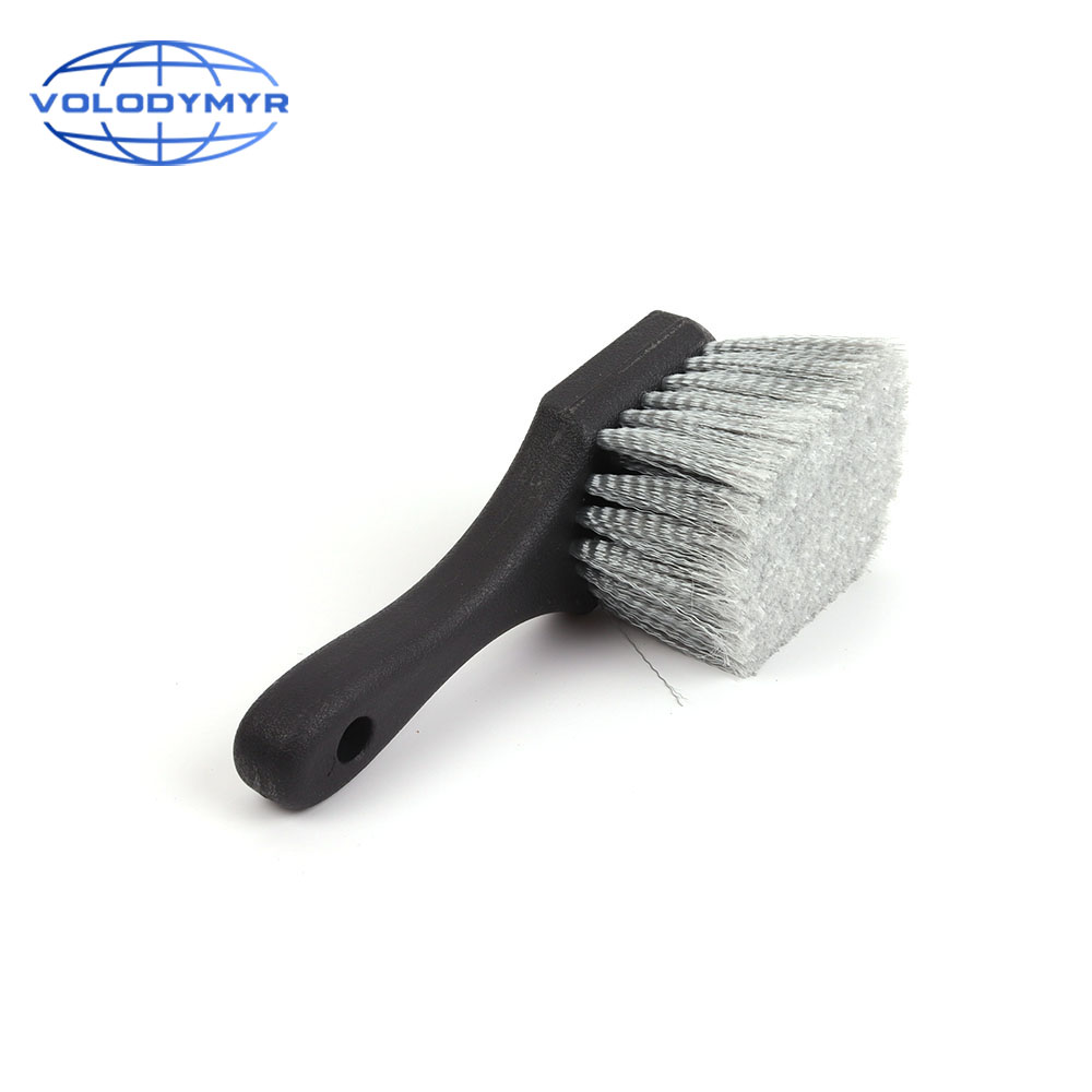 Wheel Brush Gray Bristles Detailer Rim Cleaner Brushes For Car Wash Auto Detailing Clean Carwash Carcleaning